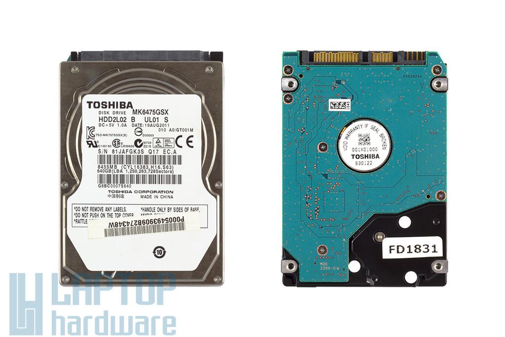 Toshiba MK6475GSX 640GB SATA Winchester