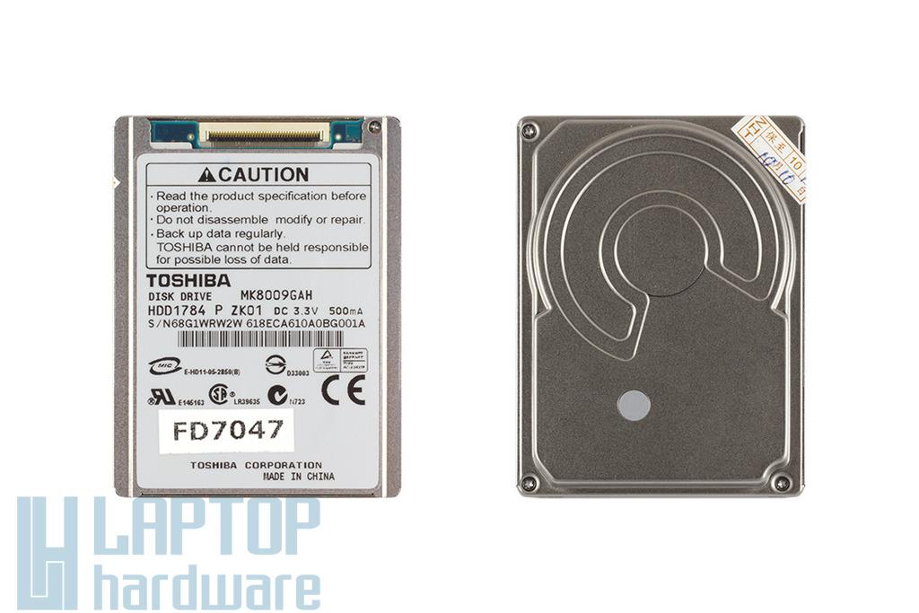 80GB 4200RPM 1.8'' ZIF PATA (Ultra ATA-100) gyári új laptop winchester, HDD
