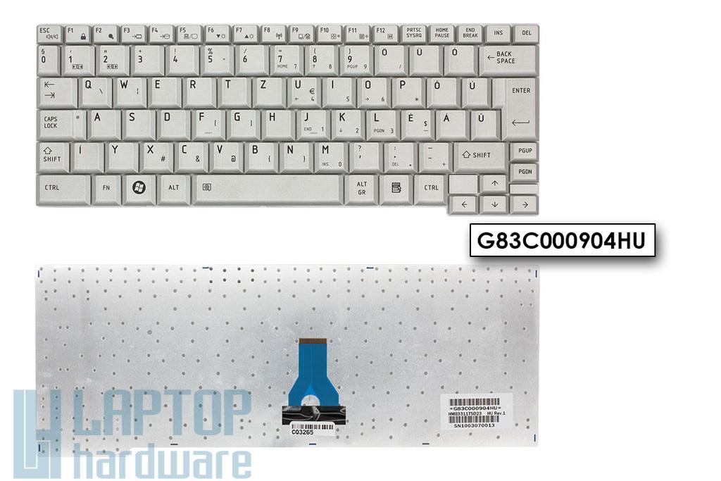 Toshiba Portege A600, R500, R600 gyári új magyar ezüst laptop billentyűzet (G83C000904HU, HMB3311TSD23)