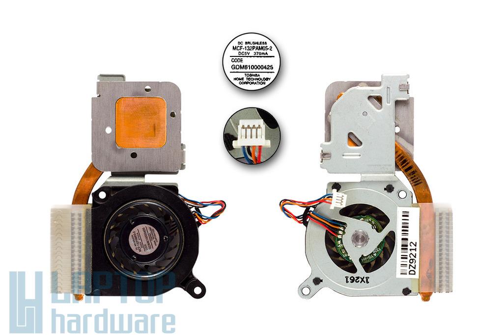 Toshiba Portege R500, R505 laptophoz használt hűtő ventilátor (GDM610000425, MCF-132PAM05-2)