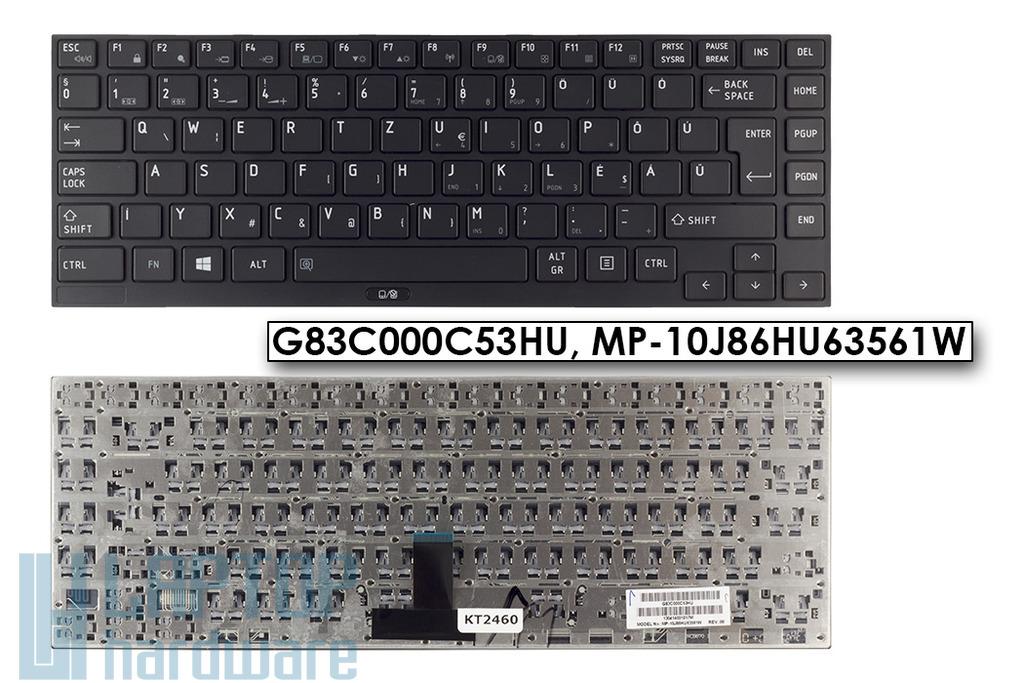 Toshiba Portege R700, R830, R930, Satellite R630 gyári új magyar laptop billentyűzet (G83C000C53HU)