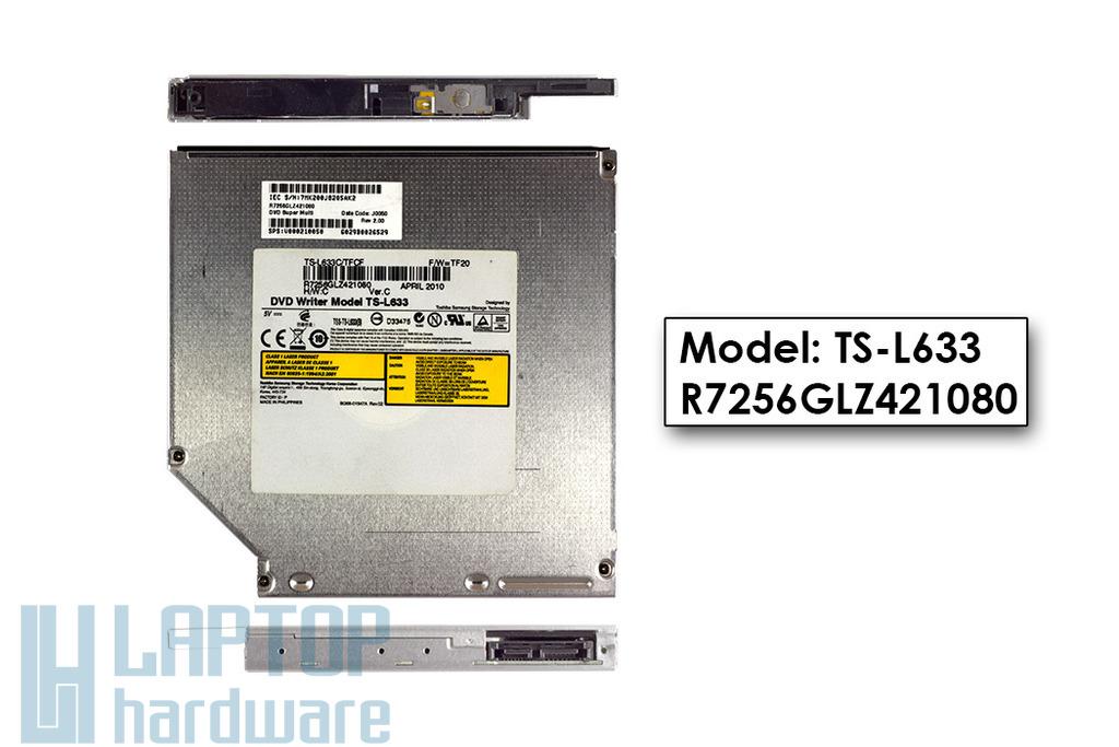 Toshiba Samsung TS-L633 használt SATA laptop Lightscribe DVD-író (SPS 491272-001)