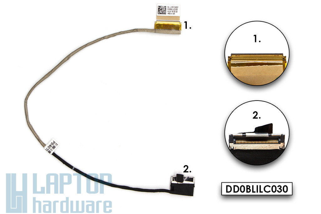 Toshiba Satelite L50-B, S50-B gyári új laptop LCD kábel (A000294560)