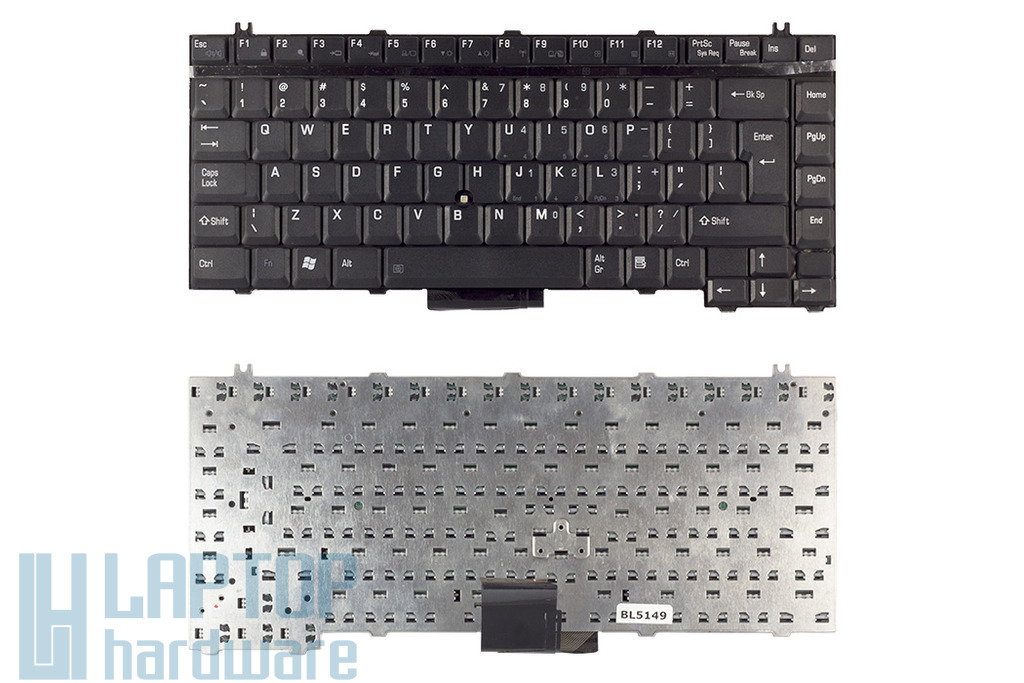 Toshiba Satellite 1130, 2400, A50 helyettesítő új UK angol laptop billentyűzet