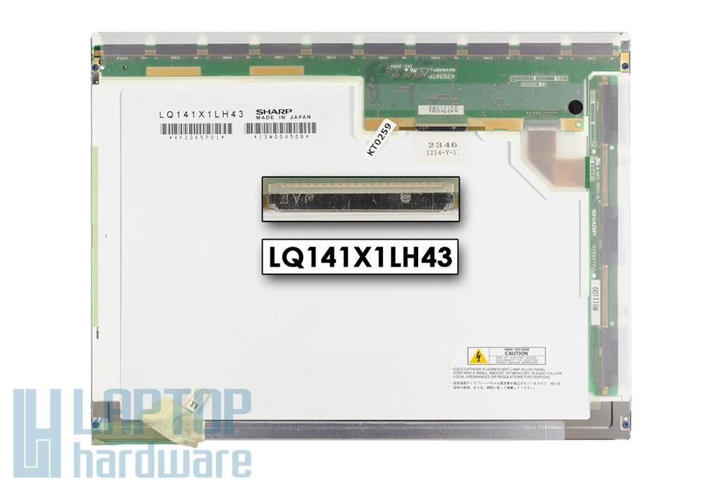 Toshiba Satellite 2800 14,1'' XGA használt matt laptop kijelző (LQ141X1LH43)