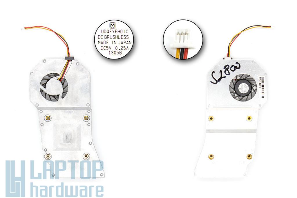 Toshiba Satellite 2800 sorozatú laptophoz használt komplett hűtő ventilátor egység (UDQFYEH01C)
