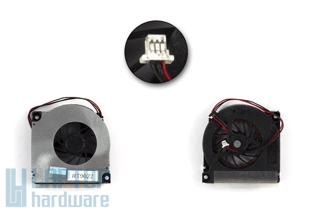 Toshiba Satellite A10, A15 használt laptop hűtő ventilátor (MCF-TS6512M05-3, GDM610000178)