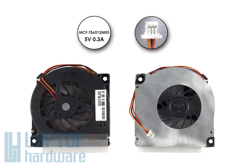 Toshiba Satellite A10, A15 helyettesítő új hűtő ventilátor, MCF-TS6512M05