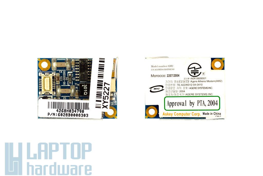 Toshiba Satellite A100, A105 laptophoz használt modem kártya (6028B0000303)