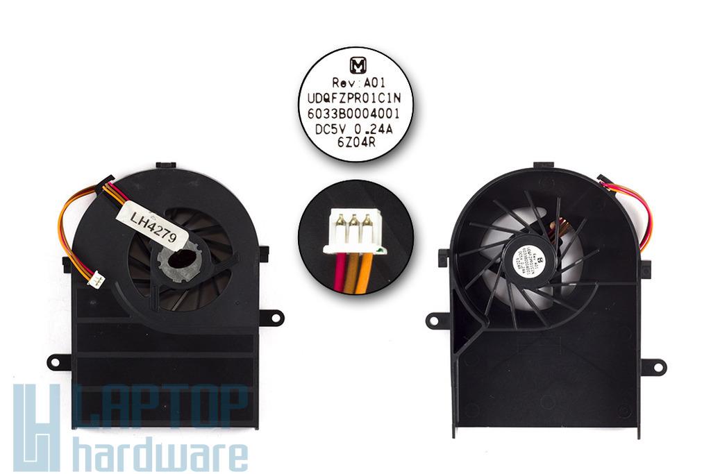 Toshiba Satellite A100, A105, Tecra A7 gyári új laptop hűtő ventilátor (Panasonic UDQFZPR01C1N)