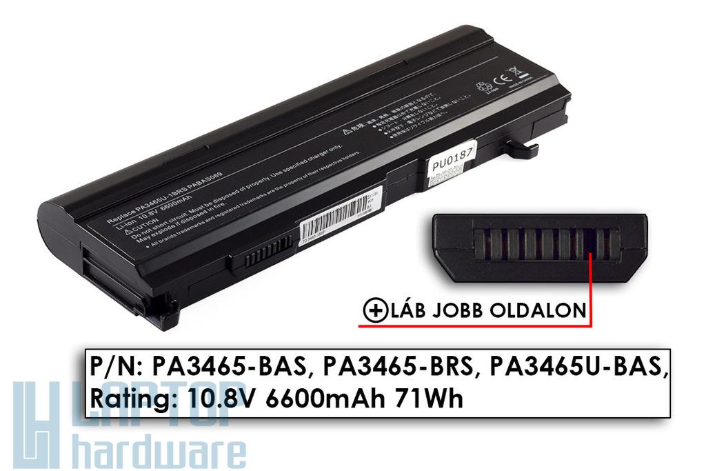 Toshiba Satellite A100, M50, M70 helyettesítő új 9 cellás laptop akku/akkumulátor (PA3465U-1BAS)