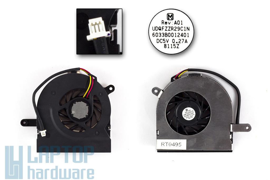 Toshiba Satellite A200, A205, A210, A215 gyári új laptop hűtő ventilátor (UDQFZZR29C1N)
