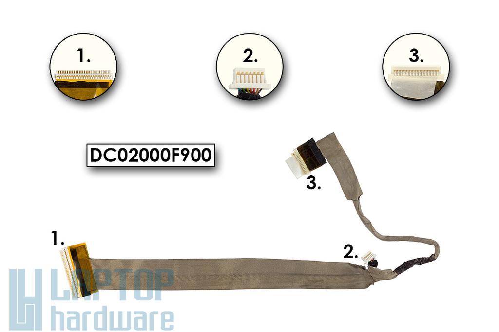 Toshiba Satellite A200, A215 használt laptop LCD kijelző kábel (15.4inch) (DC02000F900)