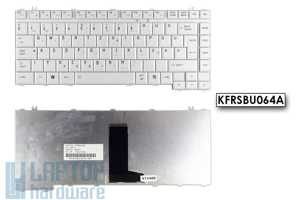 Toshiba Satellite A200, A300, L300 gyári új magyar szürke laptop billentyűzet (KFRSBU064A)