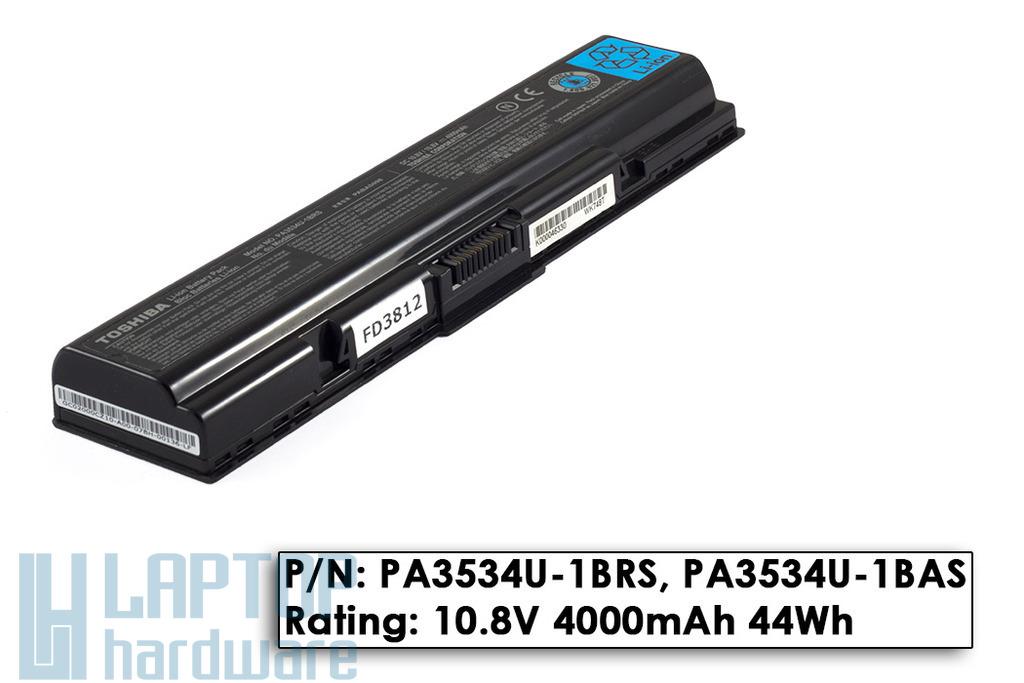 Toshiba Satellite A200, A300, L500, M200 használt 75%-os 6 cellás gyári laptop akku/akkumulátor (PA3534U-1BRS)