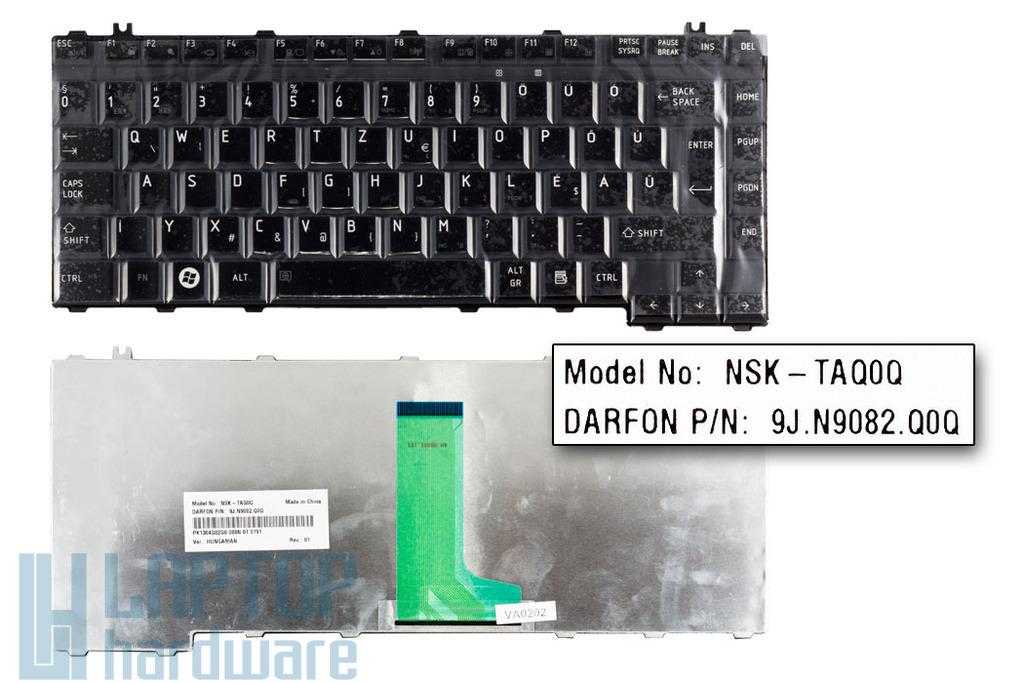 Toshiba Satellite A300, M300, L300 gyári új magyar fényes fekete laptop billentyűzet (V000122620)