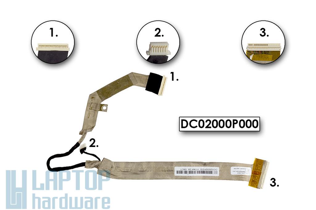 Toshiba Satellite A350, A350D laptophoz használt kijelző kábel (DC02000P000)