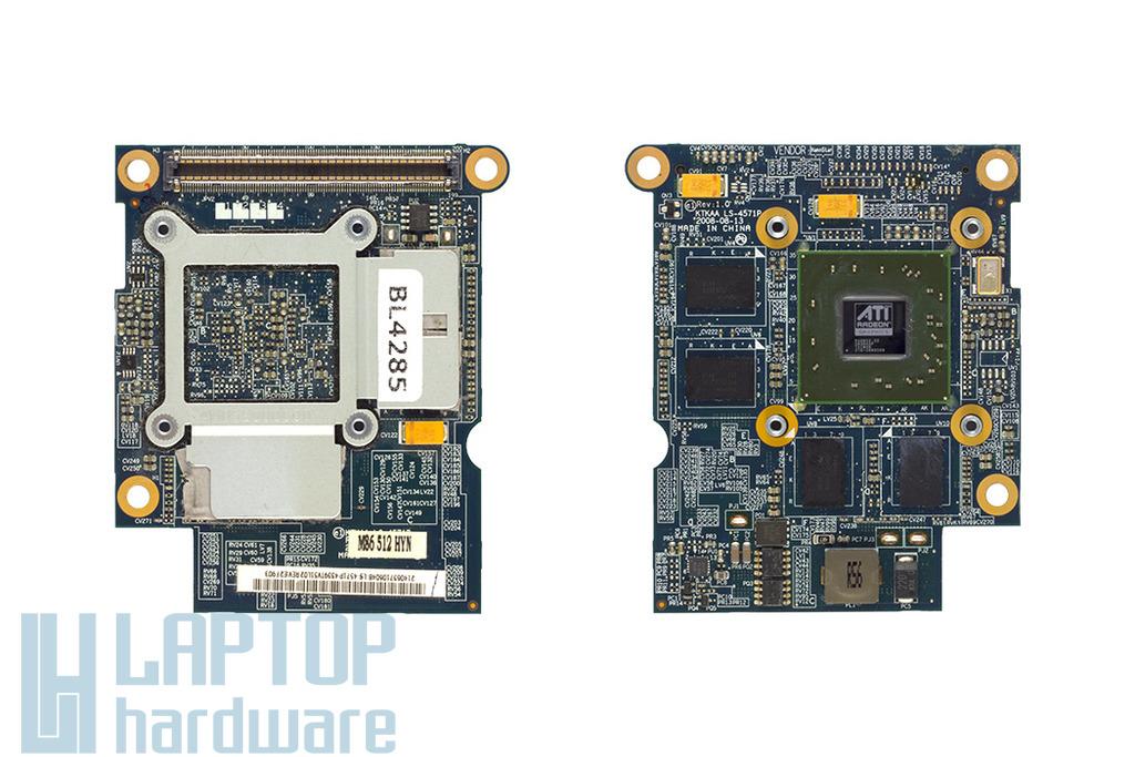 Toshiba Satellite A350, A355 laptophoz használt Video-VGA kártya, ATI HD3650, 512MB, LS-4571P