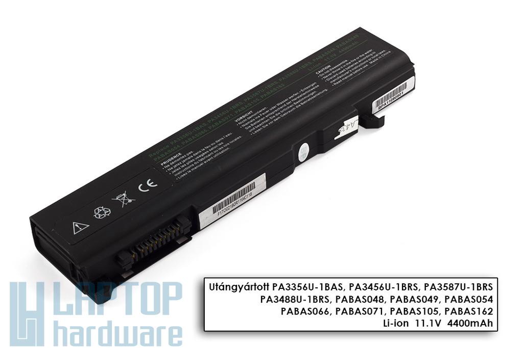 Toshiba Satellite A50, A55, M500 helyettesítő új 6 cellás laptop akku/akkumulátor (PA3356U-1BRS)