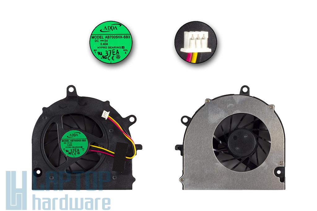 Toshiba Satellite A500, A505 gyári új laptop hűtő ventilátor (AB7005HX-SB3)