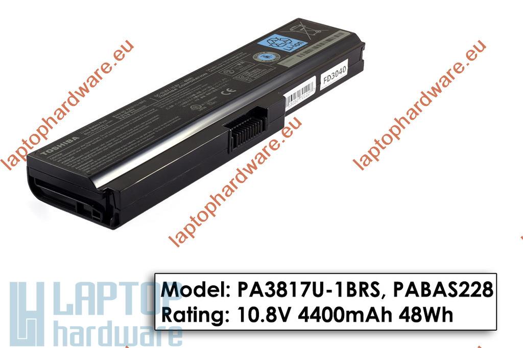 Toshiba Satellite A660, C650, L600, U400 használt gyári 6 cellás 50%-os laptop akku/akkumulátor (PA3817U-1BRS)
