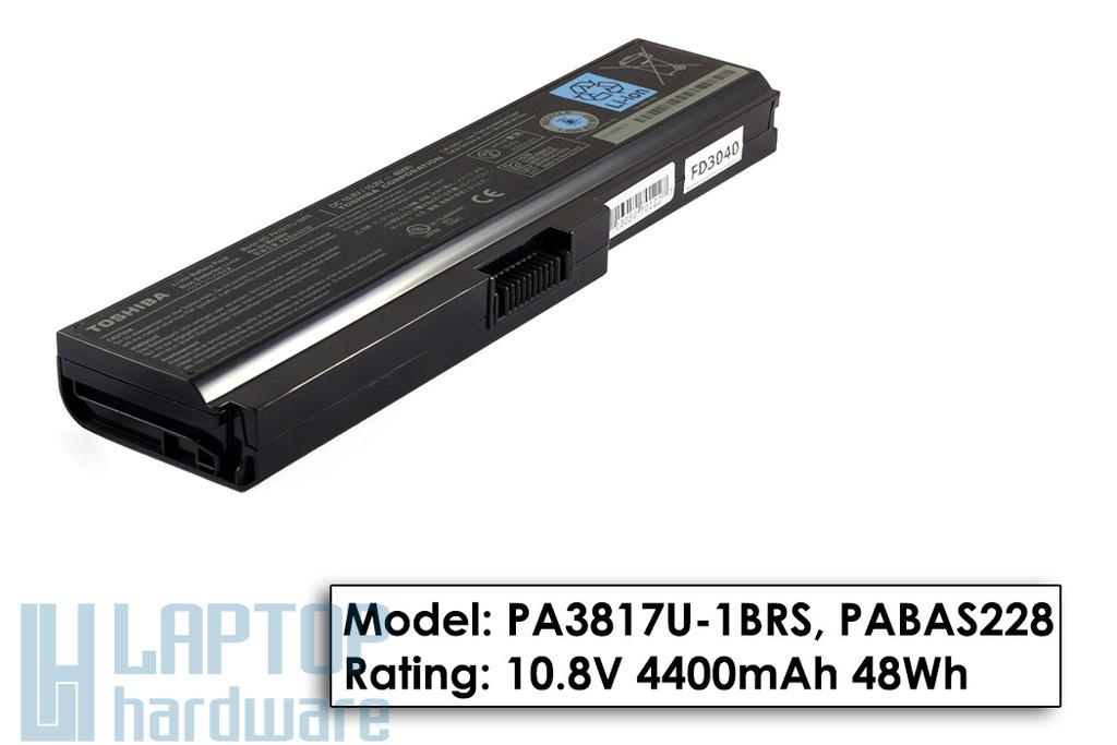 Toshiba Satellite A660, C650, L600, U400 gyári új 6 cellás laptop akku/akkumulátor (PA3817U-1BRS)