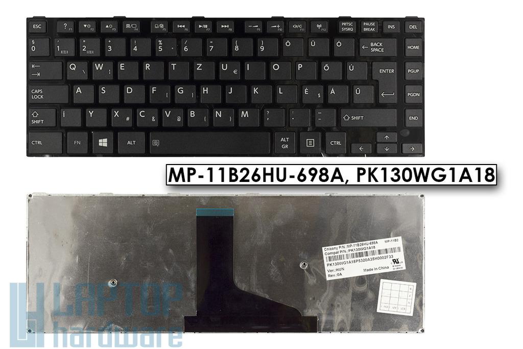 Toshiba Satellite C40, C45 gyári új magyar laptop billentyűzet (MP-11B26HU-698A)