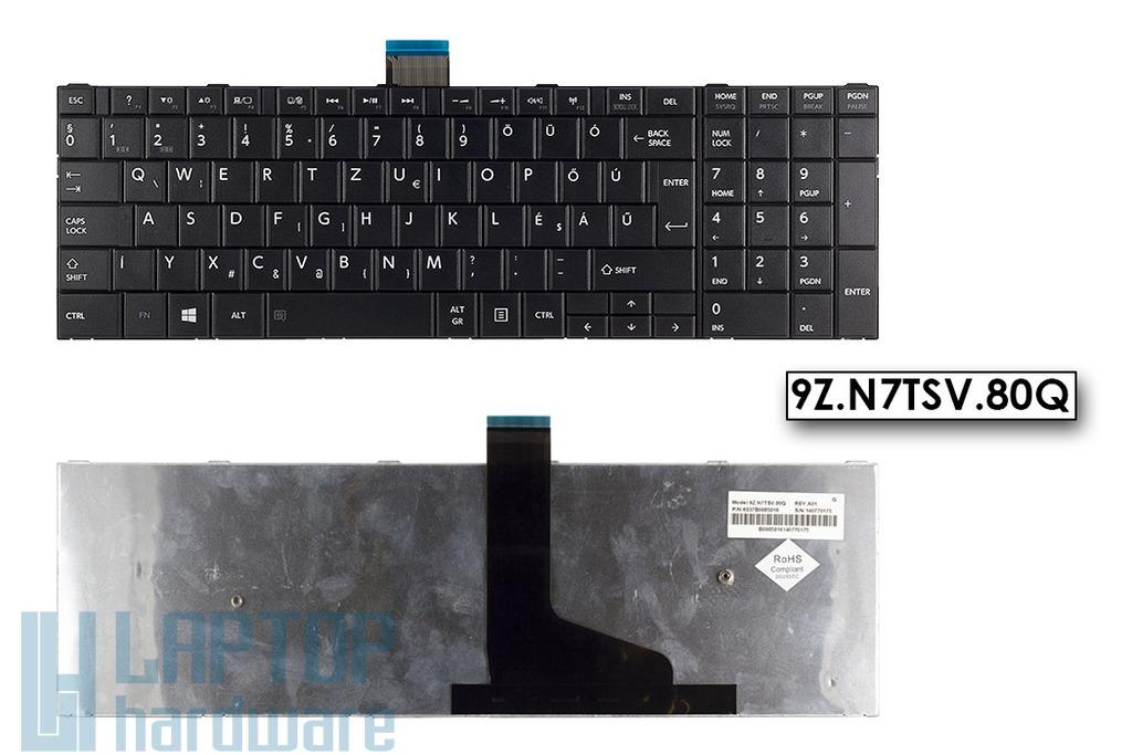 Toshiba Satellite C50, C50-A gyári új fekete magyar laptop billentyűzet (9Z.N7TSV.80Q)