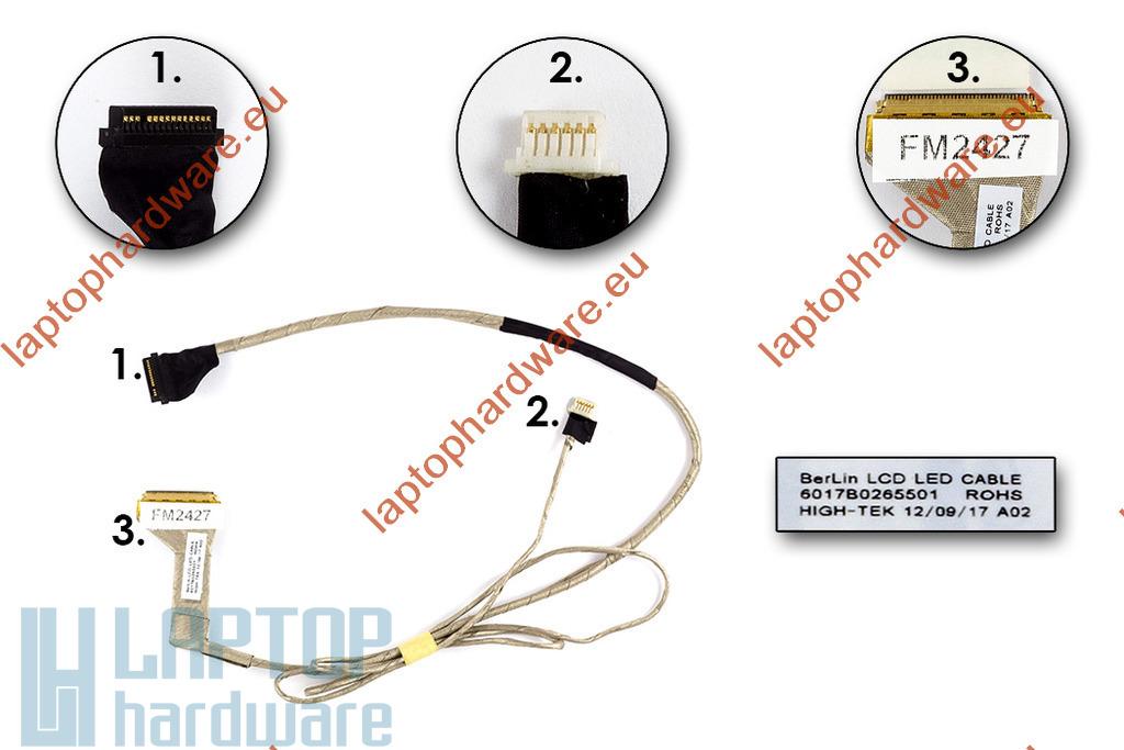 Toshiba Satellite C650, C650D, C655, C655D laptophoz használt LCD kijelző kábel (6017B0265501)