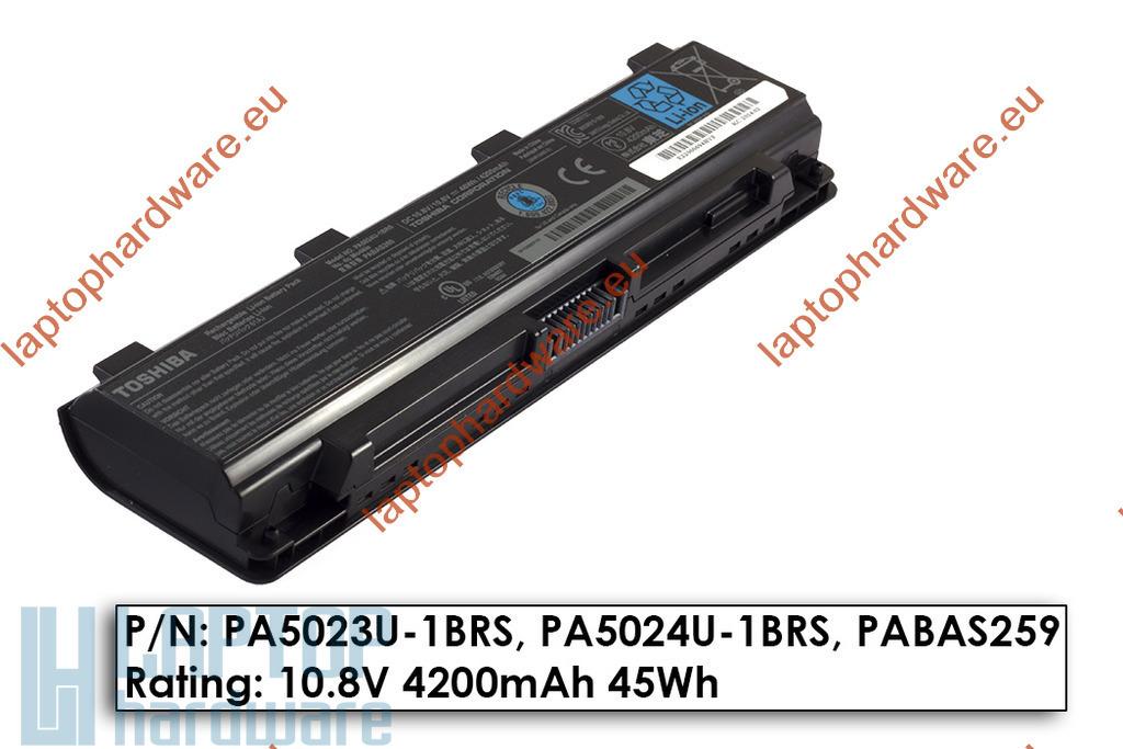 Toshiba Satellite L850 laptop akkumulátor, használt, 6 cellás (4200mAh)