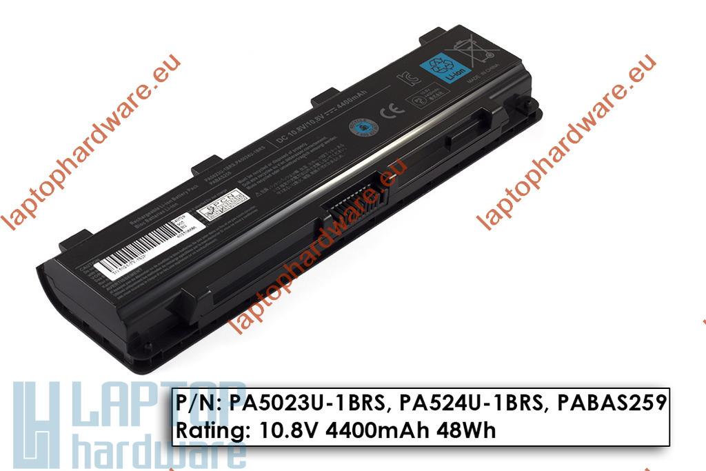 Toshiba Satellite C840, C850, C855 használt 90%-os 6 cellás helyettesítő laptop akku/akkumulátor (PA5023U-1BRS, PA5024U-1BRS)