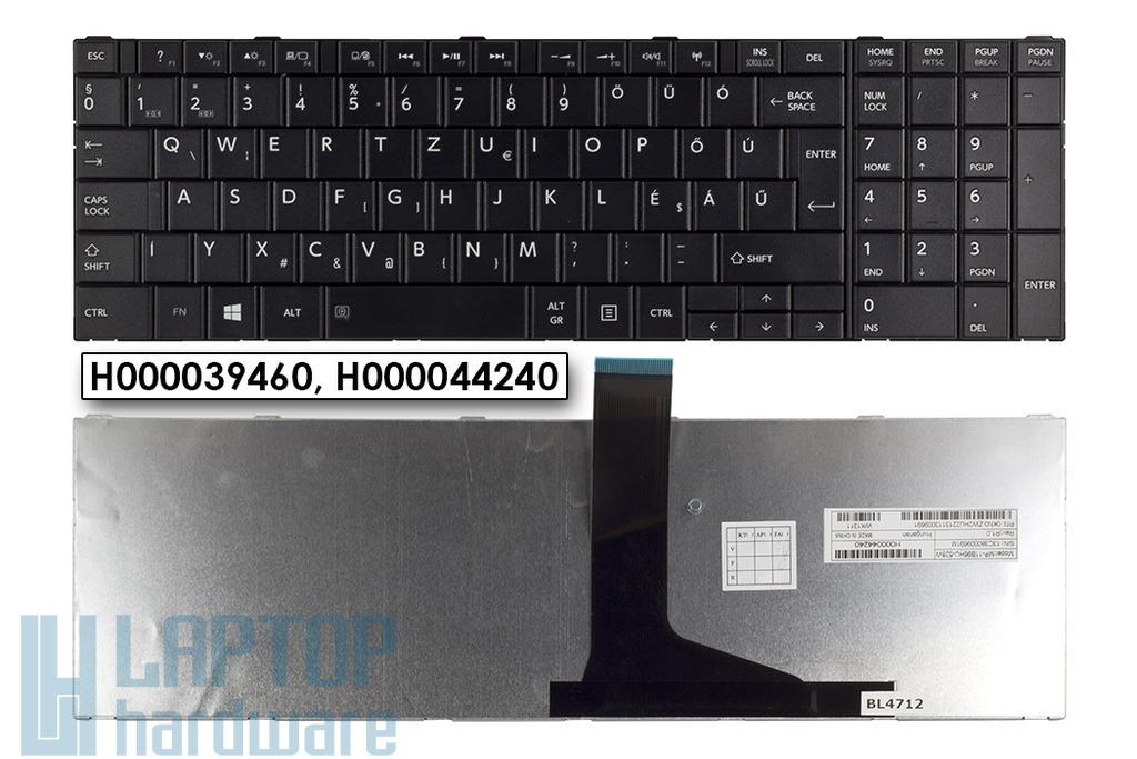 Toshiba Satellite C850, C855, C870 magyar fekete laptop billentyűzet (Win7) (H000039270)