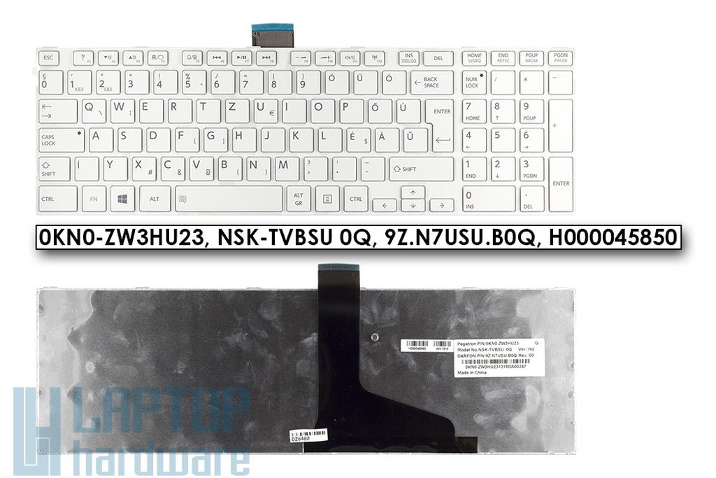 Toshiba Satellite C850, C870, L850, L870 gyári új magyar fehér laptop billentyűzet, H000045850