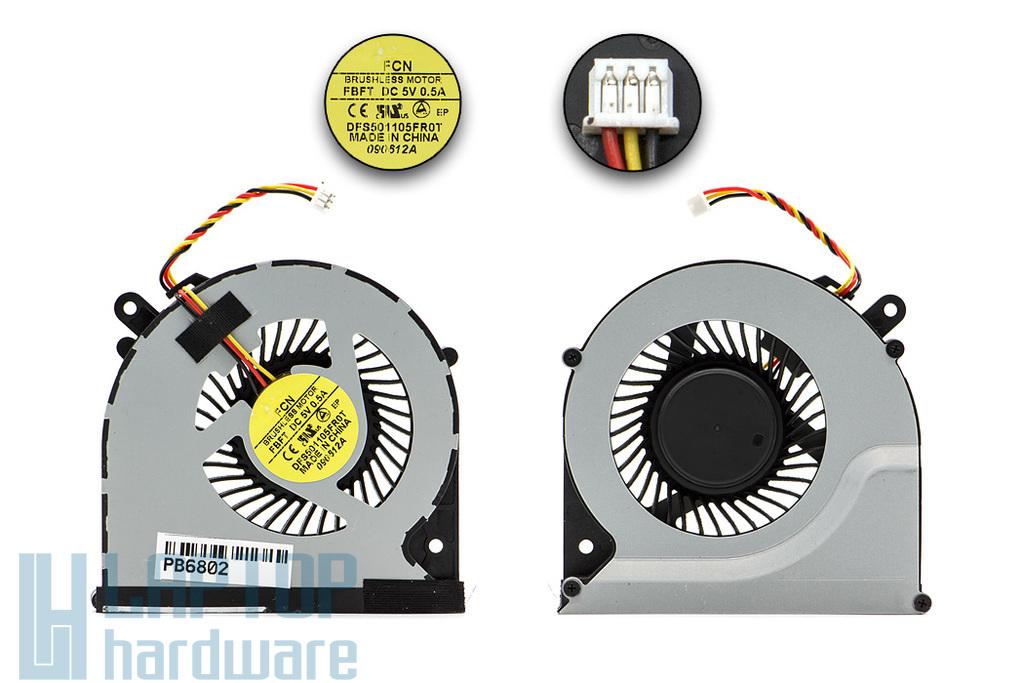 Toshiba Satellite C850, C870, L850, L870 laptop hűtő ventilátor (DFS501105FR0T FBFT)