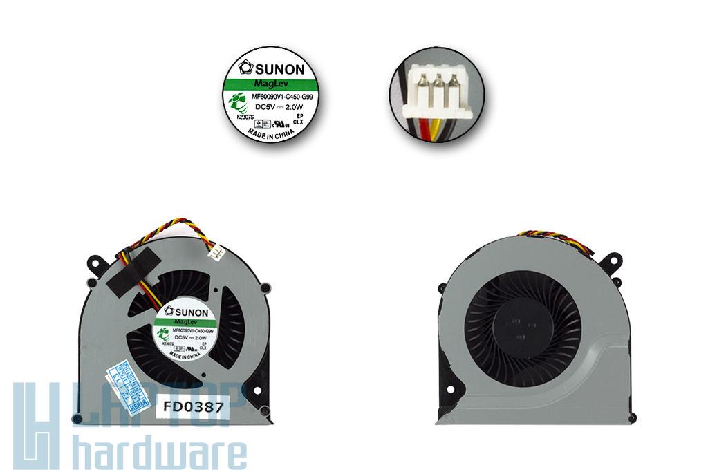 Toshiba Satellite C850, C870, L850, L870 laptop hűtő ventilátor, MF60090C1-C450-G99