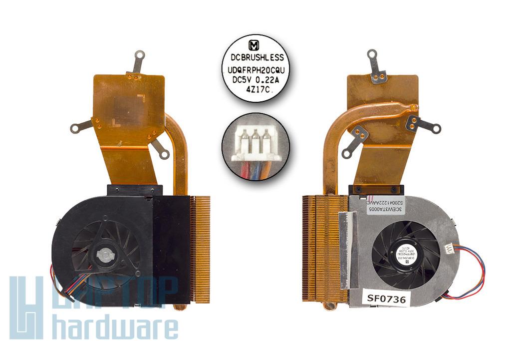Toshiba Satellite L10, L15 használt komplett laptop hűtő ventilátor egység (3CEW3TA0005)