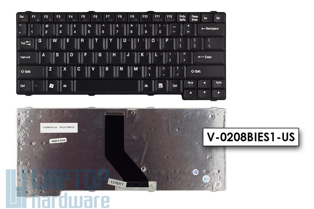 Toshiba Satellite L10, L15, L20, L25, L30, Tecra L2 gyári új US angol laptop billentyűzet (V-0208BIES1-US)