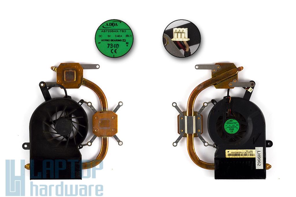 Toshiba Satellite L30, L35, Qosmio F30, Packard Bell Argo C2 használt laptop hűtő ventilátor (AB7205HX-TB3)