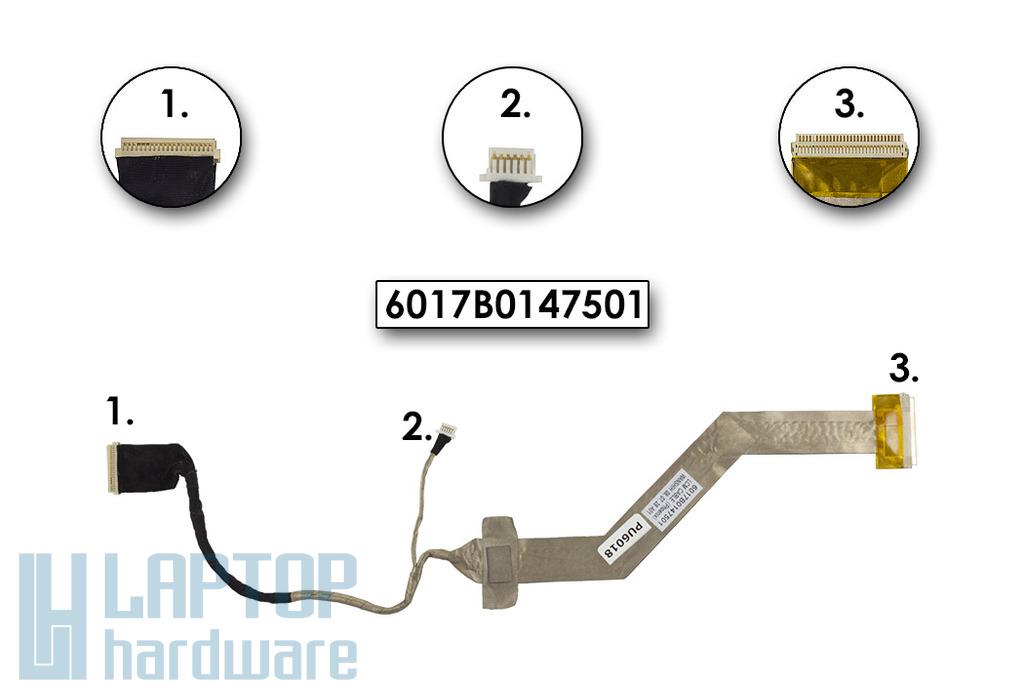 Toshiba Satellite L350, L355, L355D laptophoz használt kijelző kábel, 6017B0147501