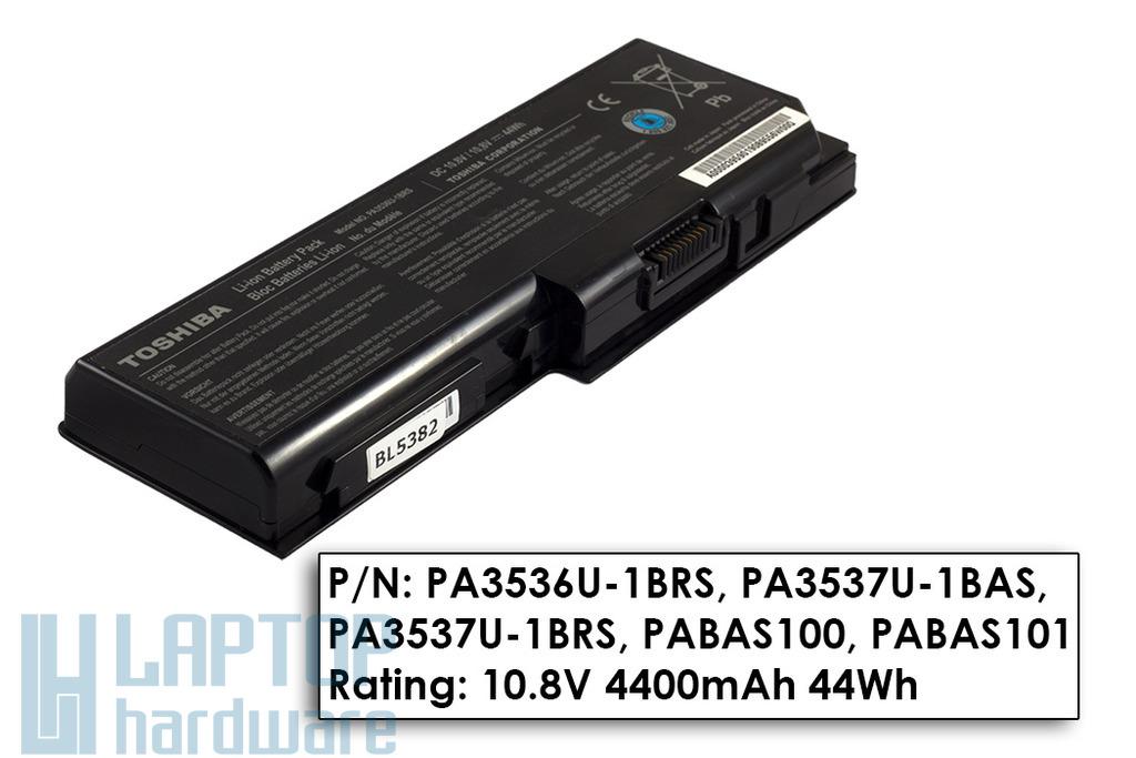 Toshiba Satellite L350, P200, P205 használt gyári 50%-os notebook akku/akkumulátor PA3536U-1BRS