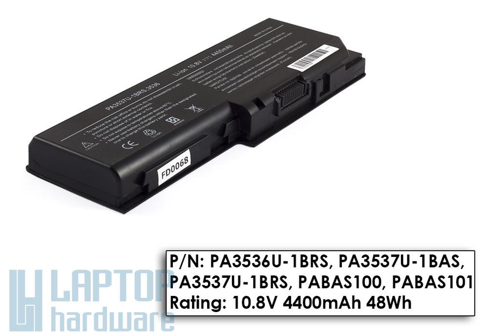 Toshiba Satellite L350, P200, P205 helyettesítő új 6 cellás laptop akku/akkumulátor (PA3536U-1BRS)