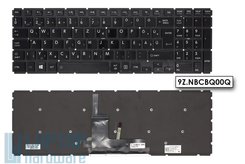 Toshiba Satellite L50-B, L50D-B gyári új magyar fekete háttér-világításos laptop billentyűzet (NSK-V90BQ, AEBLI401110)