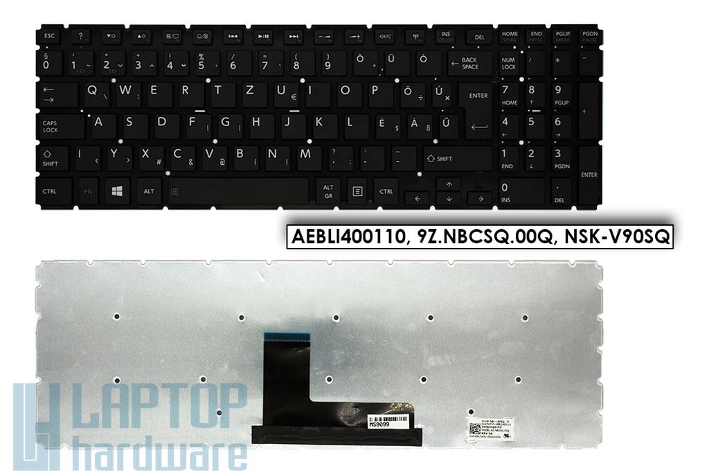 Toshiba Satellite L50-B, L50D-B gyári új magyar fekete laptop billentyűzet (AEBLI400110, 9Z.NBCSQ.00Q, NSK-V90SQ)