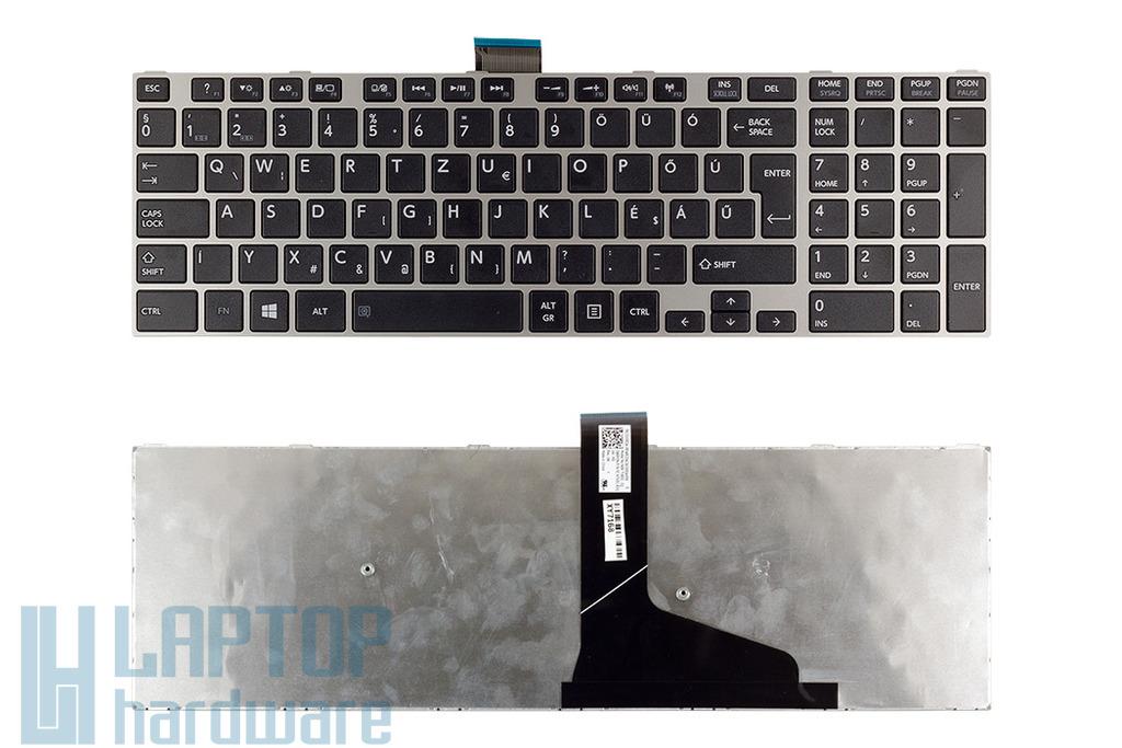 Toshiba Satellite L50, L55, L70, S75 gyári új magyar ezüst laptop billentyűzet