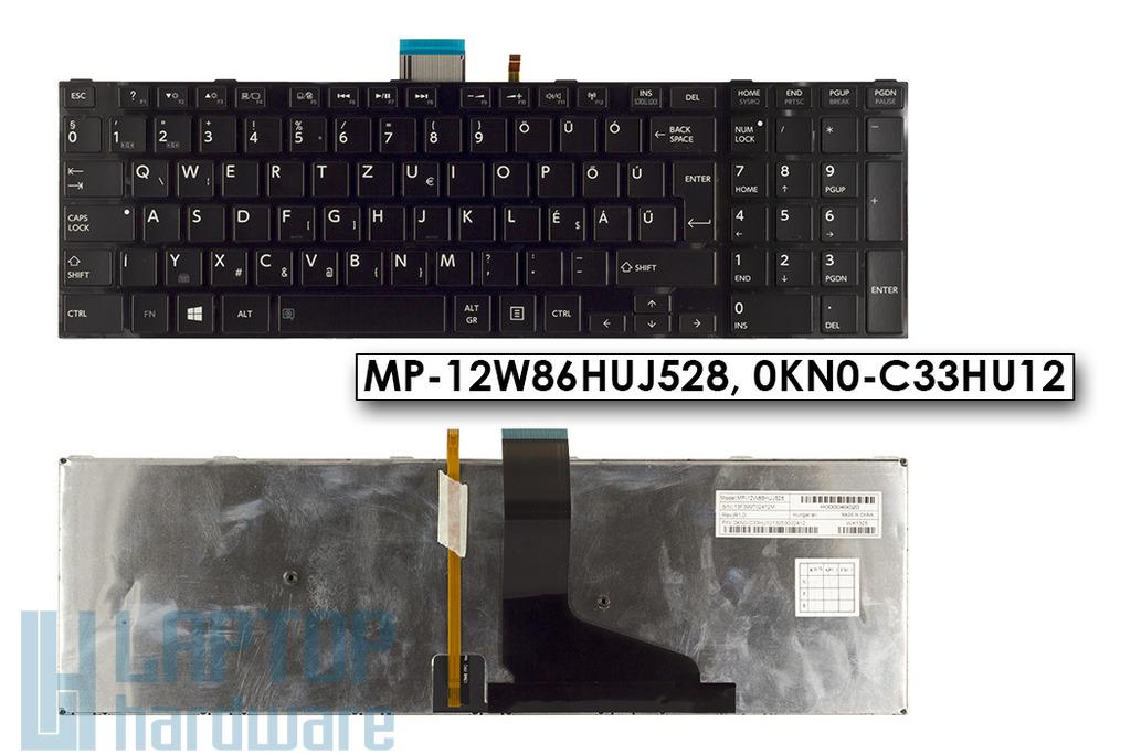 Toshiba Satellite L50, L55, L70, S75 gyári új magyar fekete háttér-világításos laptop billentyűzet, 0KN0-C33HU12