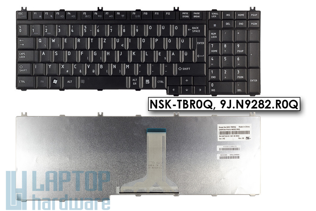 Toshiba Satellite L500, L500D gyári új magyar fekete laptop billentyűzet, NSK-TBR0Q