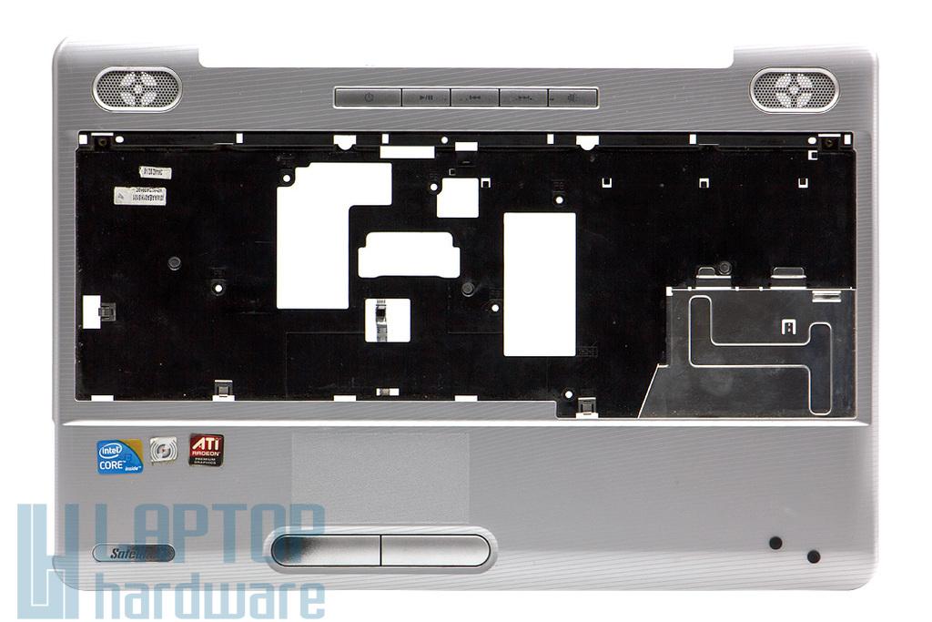 Toshiba Satellite L500, L500D használt ezüst laptop felső fedél touchpaddal és média vezérlővel (K000087250)