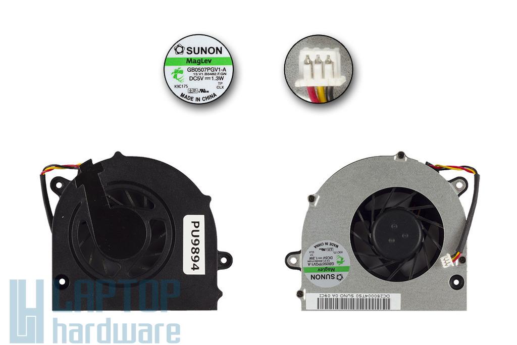 Toshiba Satellite L500, L500D, U500D használt laptop hűtő ventilátor, GB0507PGV1-A