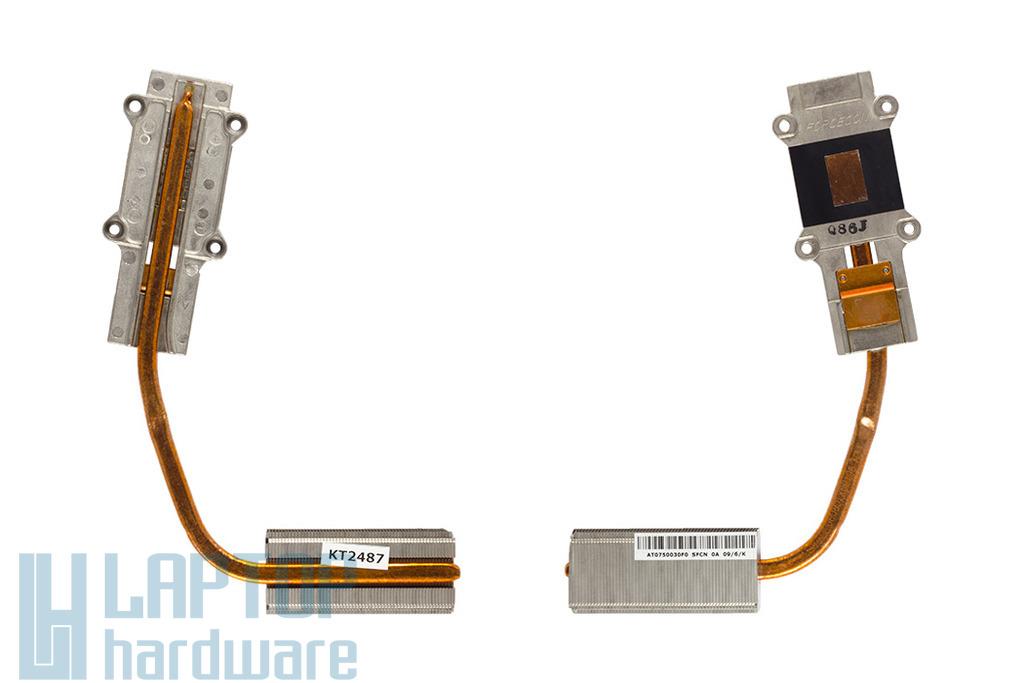 Toshiba Satellite L500, L555, L555D használt laptop hűtőborda, heatsink (AT0750030F0, AT0750050V0)