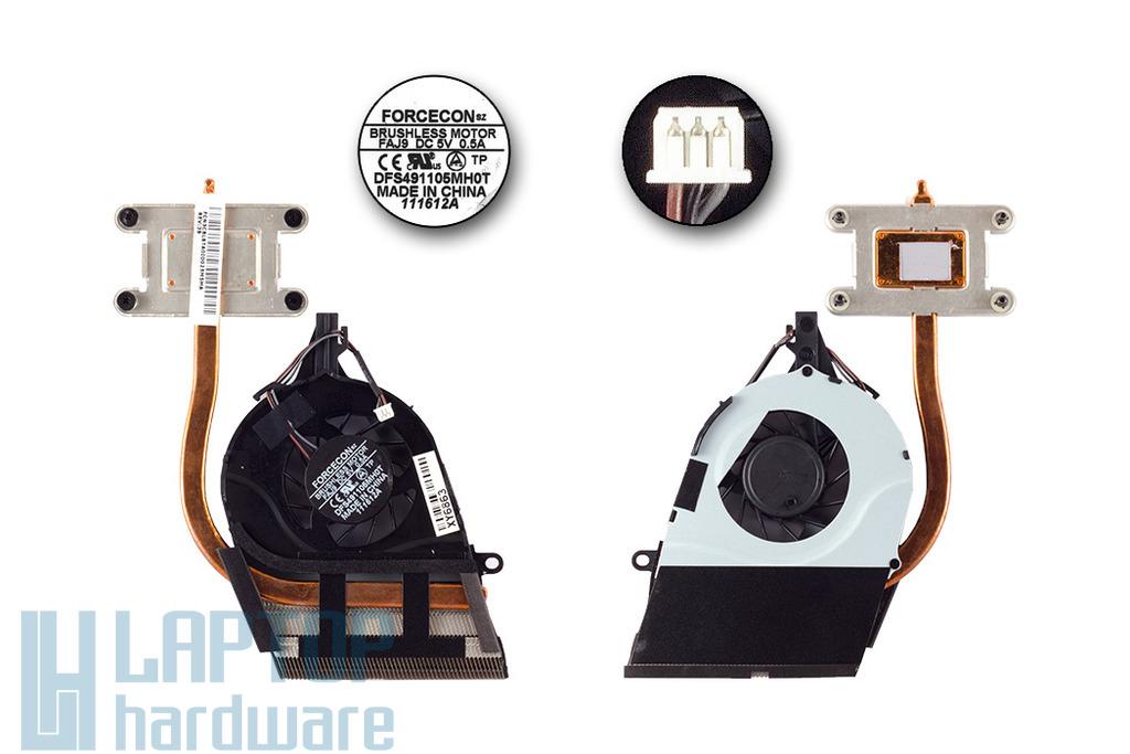 Toshiba Satellite L750 gyári új komplett laptop hűtés (UMA) (DFS491105MH0T, FAJ9)